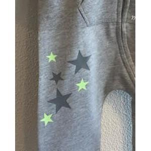 Grijze onesie 'Green Star' (met je naam)