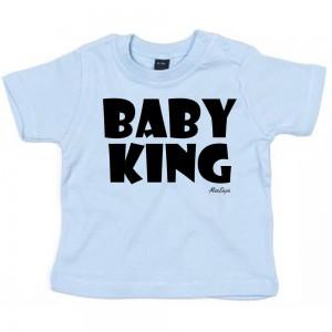 Baby-blauw t-shirt 'Black Baby King'