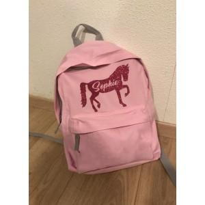Rugtas Paard (met je naam)