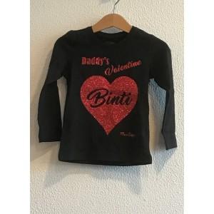 Daddy's / Mommy's Valentine t-shirt (met je naam)