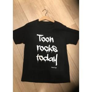 T-shirt Rocks Today (met je naam)