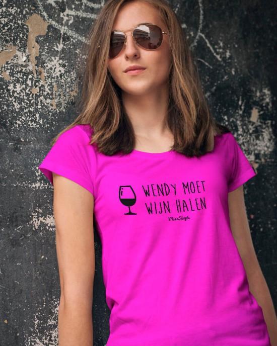 Wijn Halen T-Shirt (met je naam)