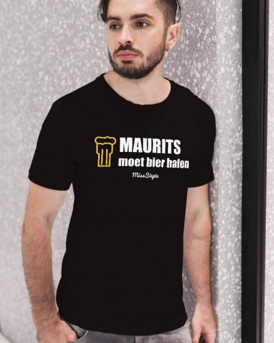 Bier halen T-Shirt (met je naam)