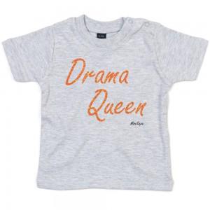 Grijs t-shirt 'Orange Glitter Drama Queen'