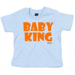 Baby-blauw t-shirt 'Orange Baby King'