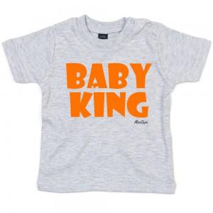 Grijs t-shirt 'Orange Baby King'