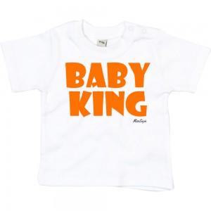 Wit t-shirt 'Orange Baby King'