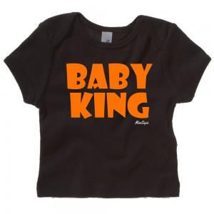 Zwart t-shirt 'Orange Baby King'