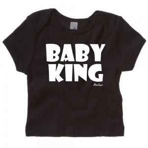 Zwart t-shirt 'White Baby King'