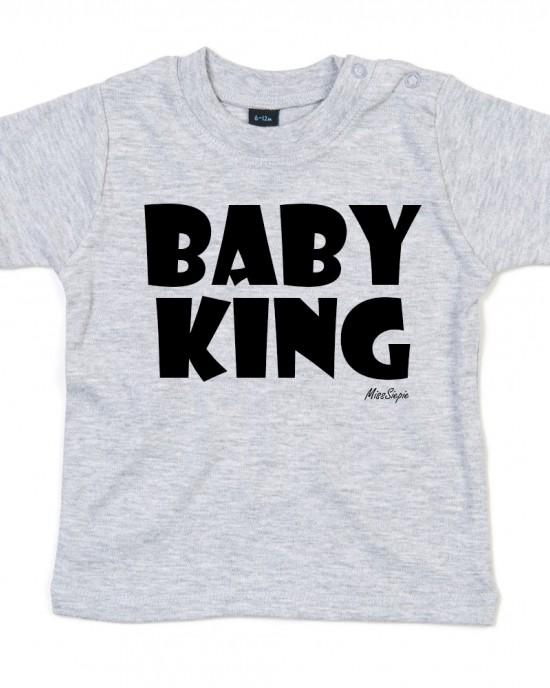 Grijs t-shirt 'Black Baby King'