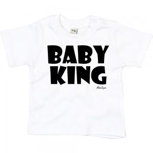 Wit t-shirt 'Black Baby King'