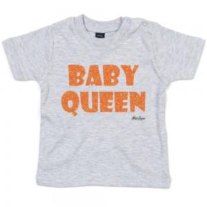 Grijs t-shirt 'Orange Glitter Baby Queen'