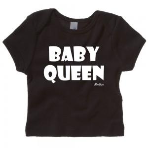 Zwart t-shirt 'White Baby Queen'